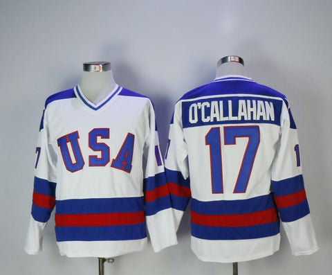 Jack O'Callahan Team USA International IIHF Olympic Jersey White