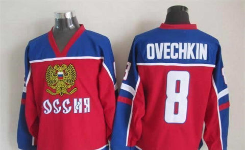 Alexander Ovechkin Team Russia International IIHF Olympic Jersey