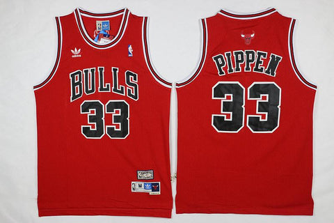 Scottie Pippen Chicago Bulls NBA Adidas Hardwood Classics Jersey Red