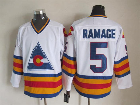 Rob Ramage Colorado Rockies NHL CCM Vintage Jersey Blue