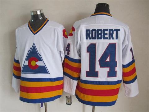 Rene Robert Colorado Rockies NHL CCM Vintage Jersey White