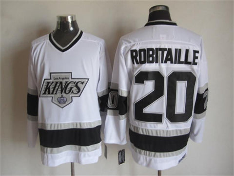 Luc Robitaille Los Angeles Kings NHL CCM Vintage Jersey White