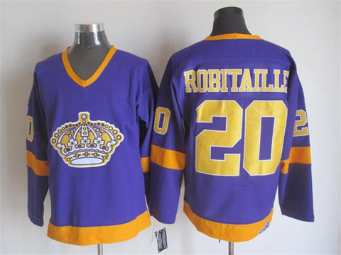 Luc Robitaille Los Angeles Kings NHL CCM Vintage Jersey Purple