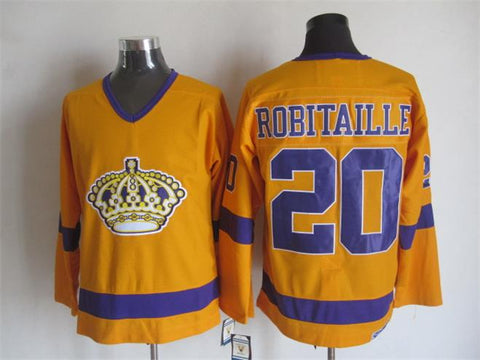 Luc Robitaille Los Angeles Kings NHL CCM Vintage Jersey Yellow