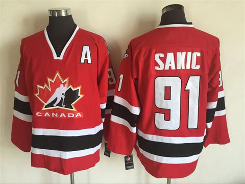 Joe Sakic Team Canada International IIHF Olympic Jersey Red