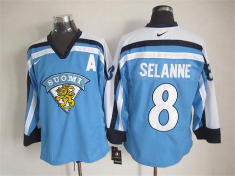 Teemu Selanne Team Finland Suomi International IIHF Olympic Jersey