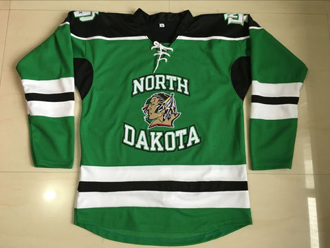 TJ Oshie North Dakota Sioux NCAA Jersey Green