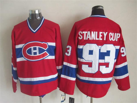 Stanley Cup 93 Montreal Canadiens NHL CCM Vintage Jersey Red