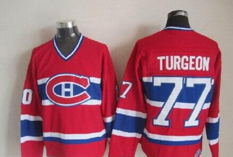 Pierre Turgeon Montreal Canadiens NHL CCM Vintage Jersey Red