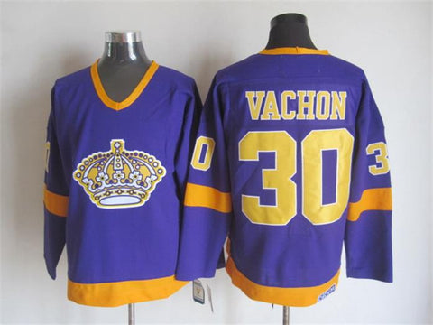 Rogie Vachon Los Angeles Kings NHL CCM Vintage Jersey Purple