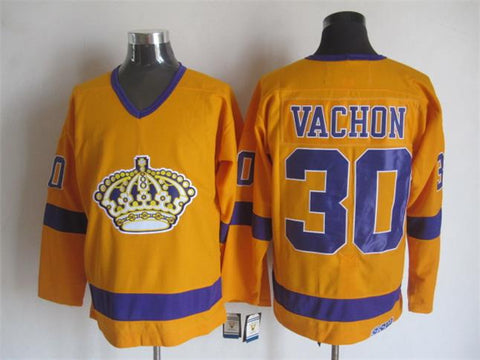 Rogie Vachon Los Angeles Kings NHL CCM Vintage Jersey Yellow