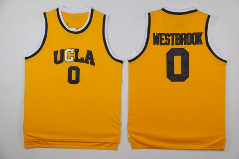 Russell Westbrook UCLA Bruins NCAA Adidas Jersey Yellow