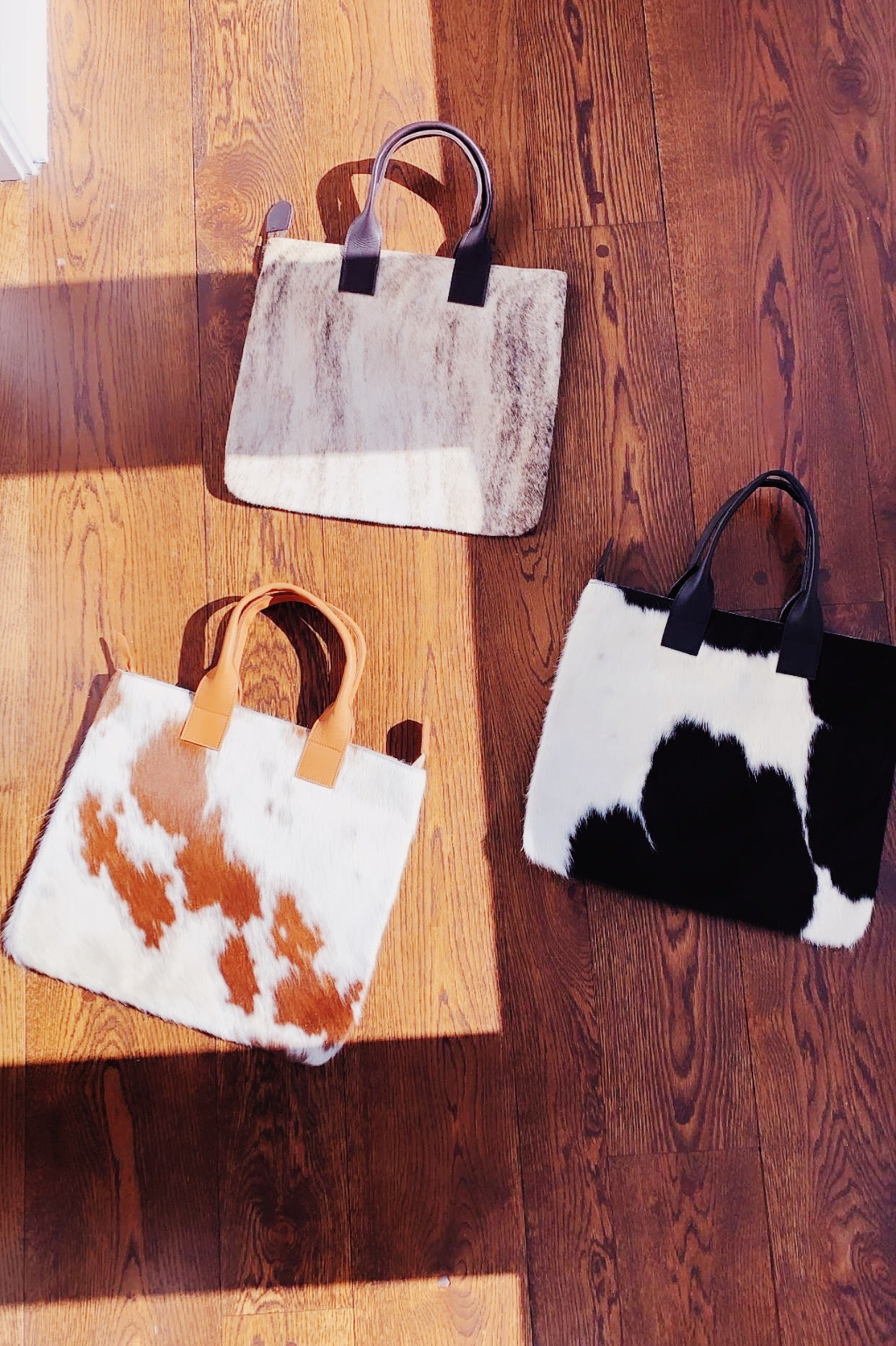 Cow Hair Tote: Caramel