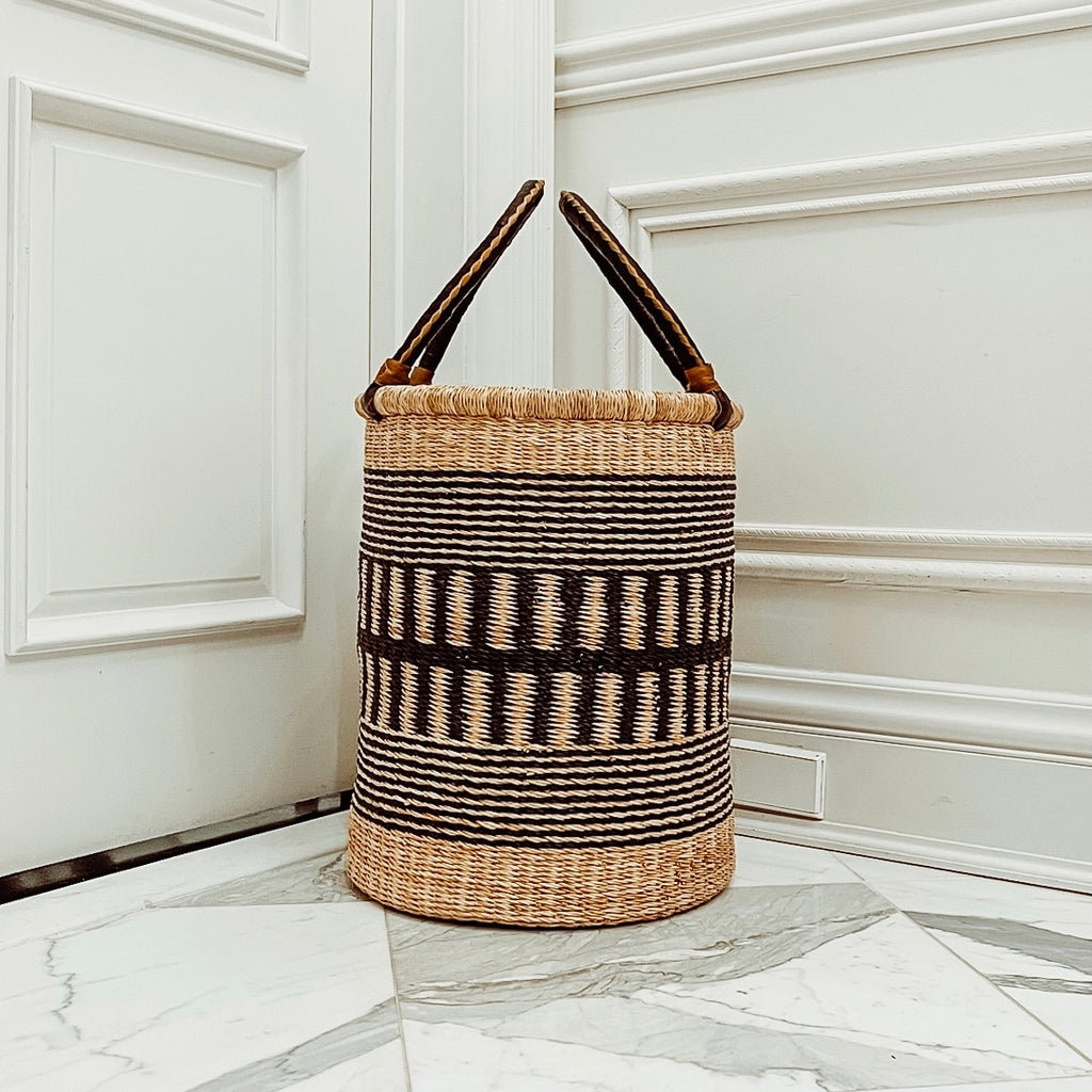 Laundry Storage Basket: Black Monochrome II