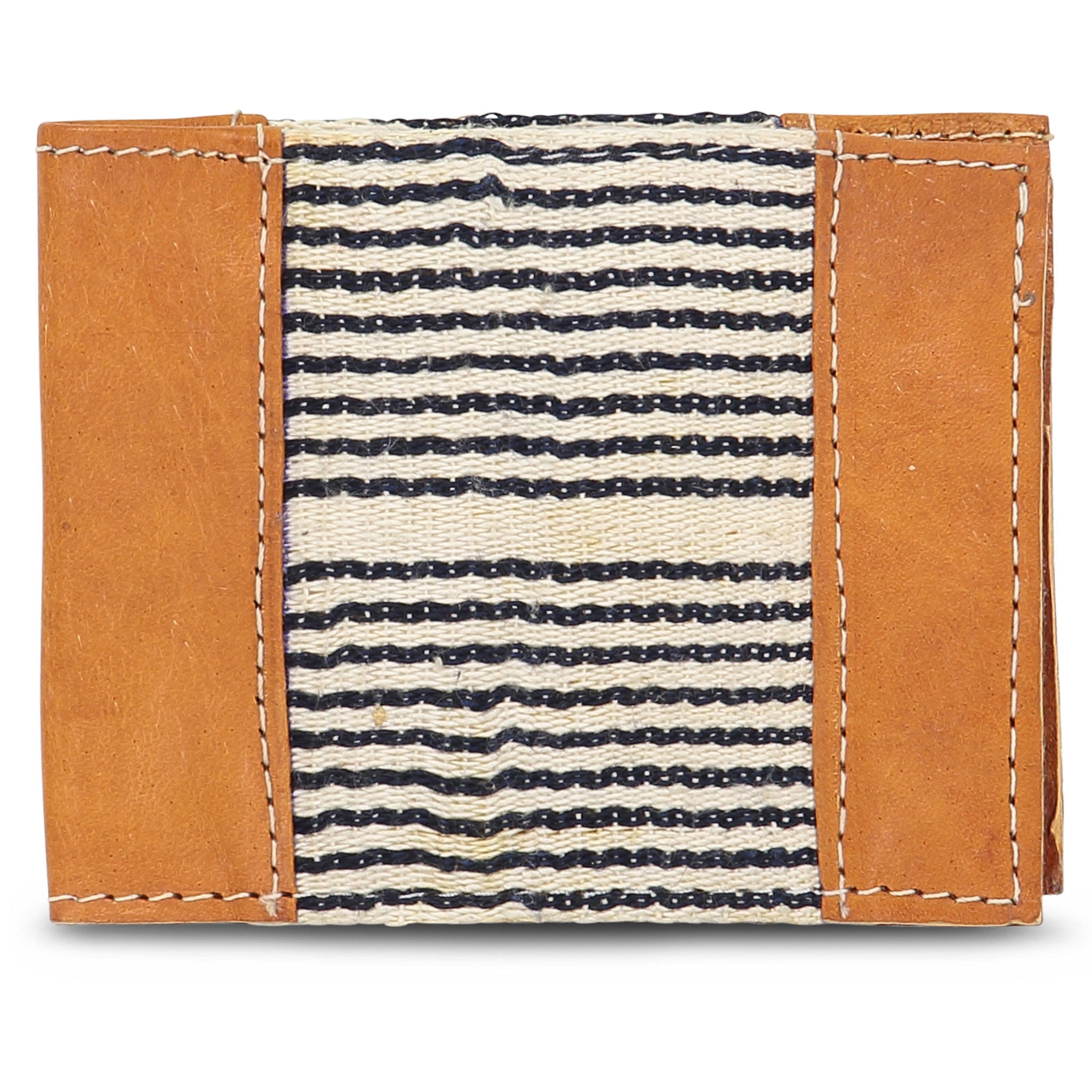 Country Cloth Bifold Wallet: Light Black Stripe