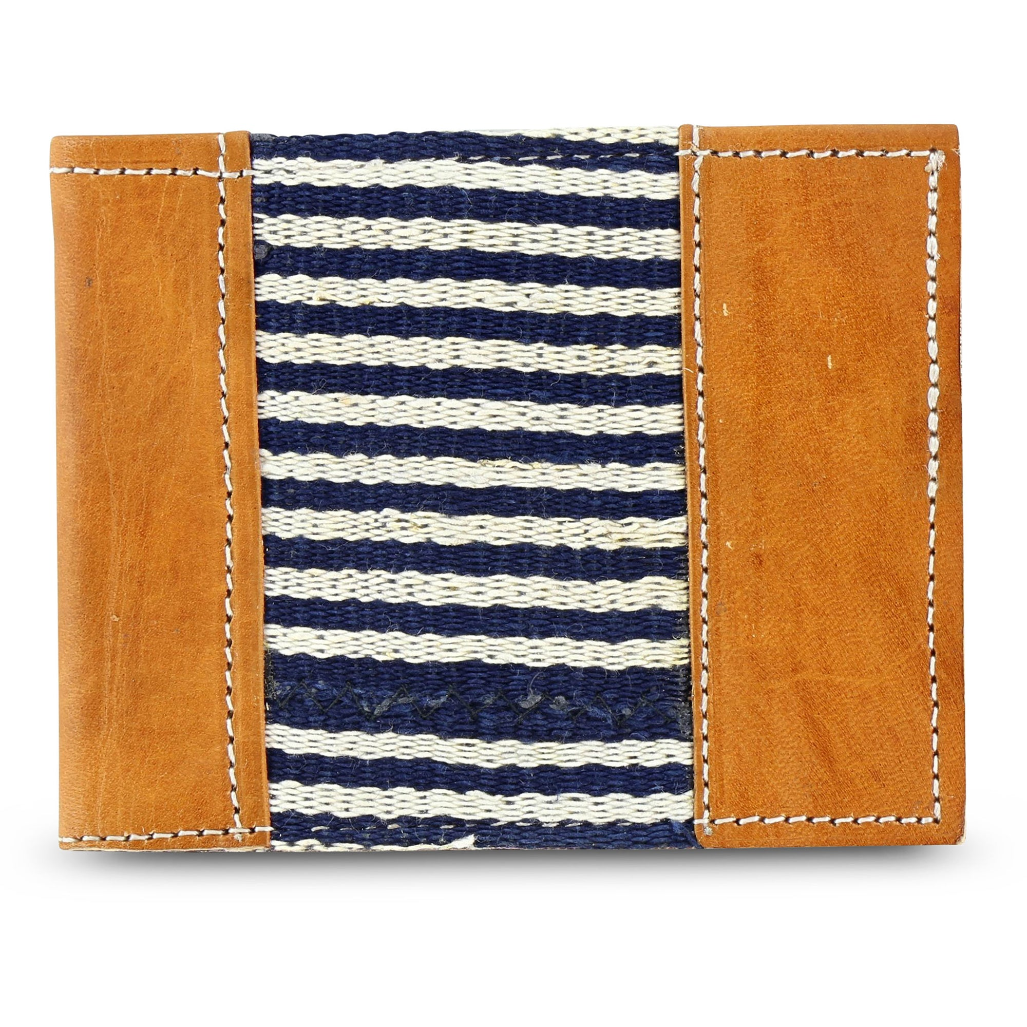 Country Cloth Bifold Wallet: Narrow Indigo
