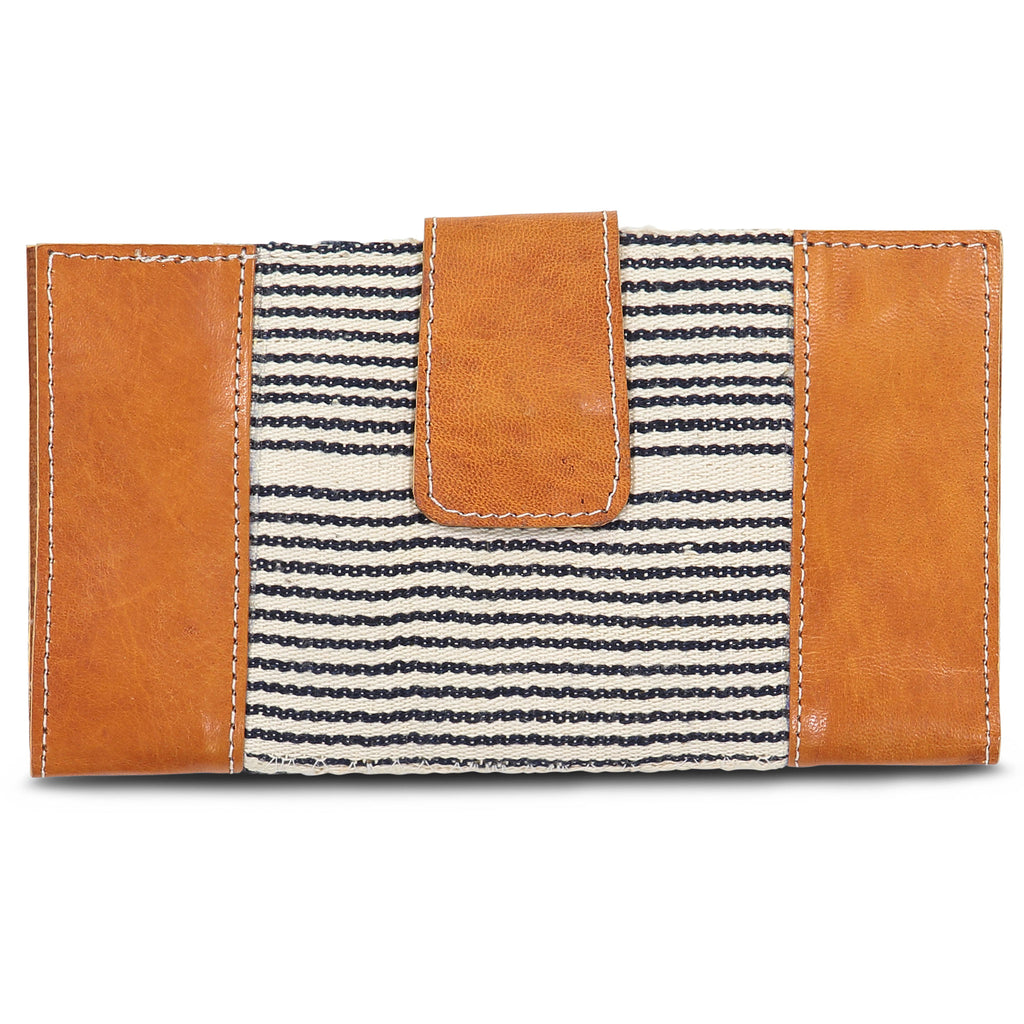 Country Cloth Wallet: Light Black Stripe