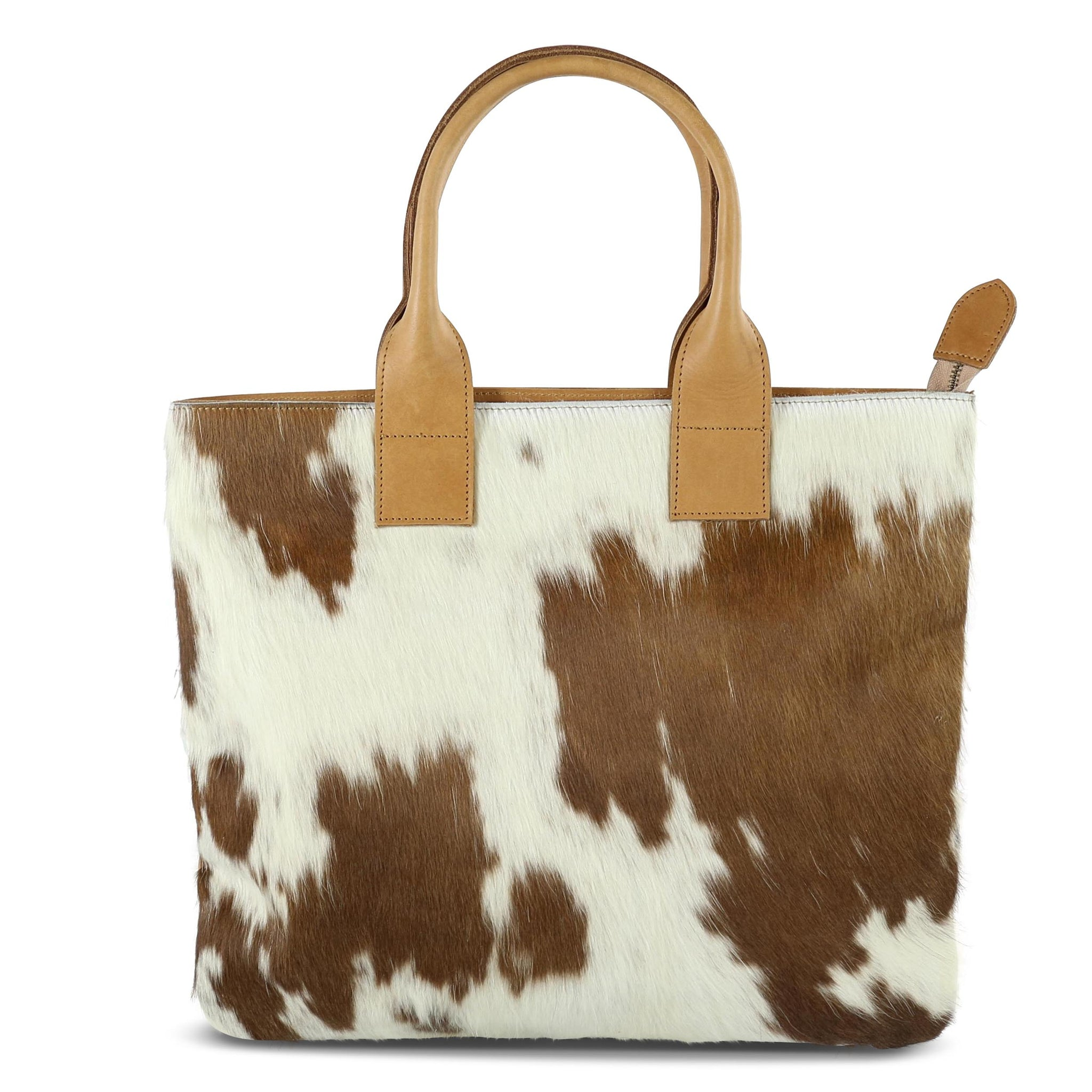 Cow Hair Tote: Chocolate