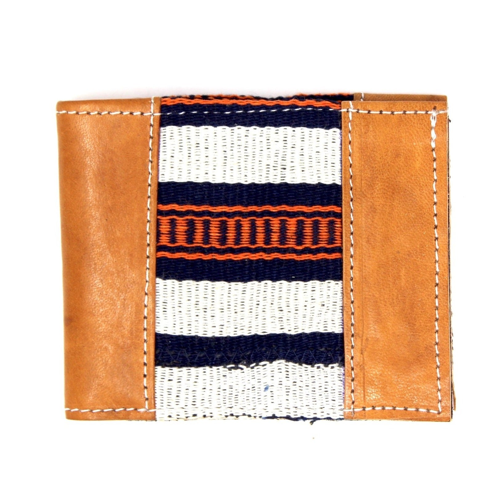 Country Cloth Bifold Wallet: Tan + Amber Indigo