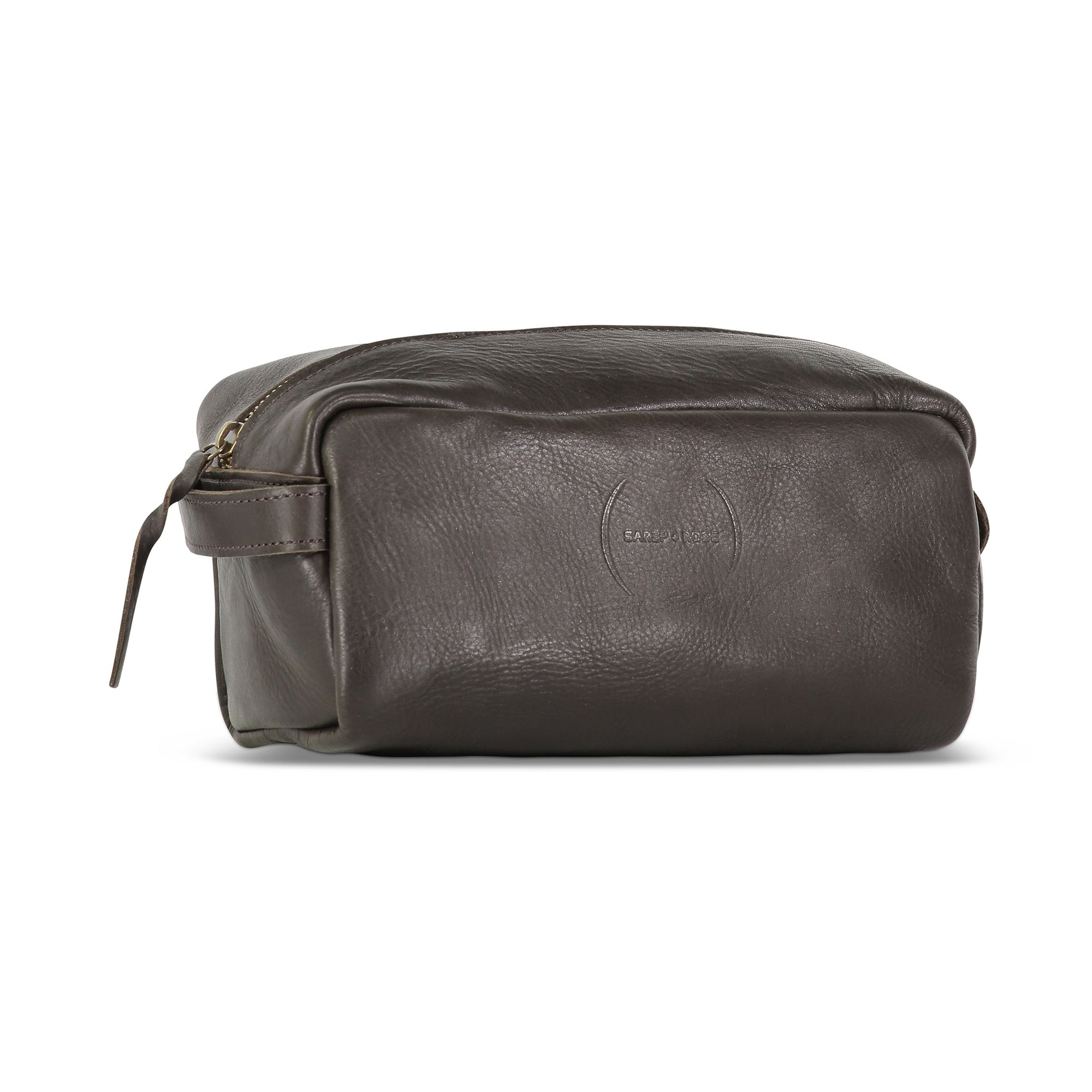 Wash Bag: Mahogany Brown