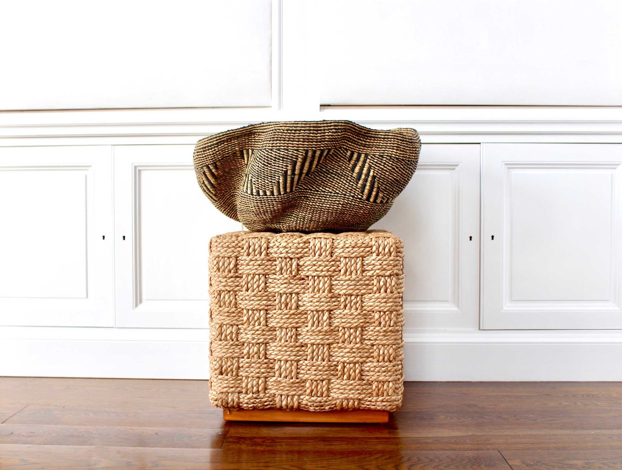 handwoven home decor basket