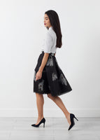 Short Silk Skirt
