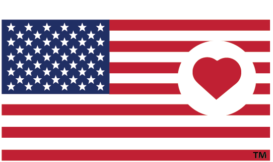 Heart on Flag - Caps