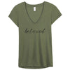 Beloved - Slinky Jersey V-Neck T-Shirt