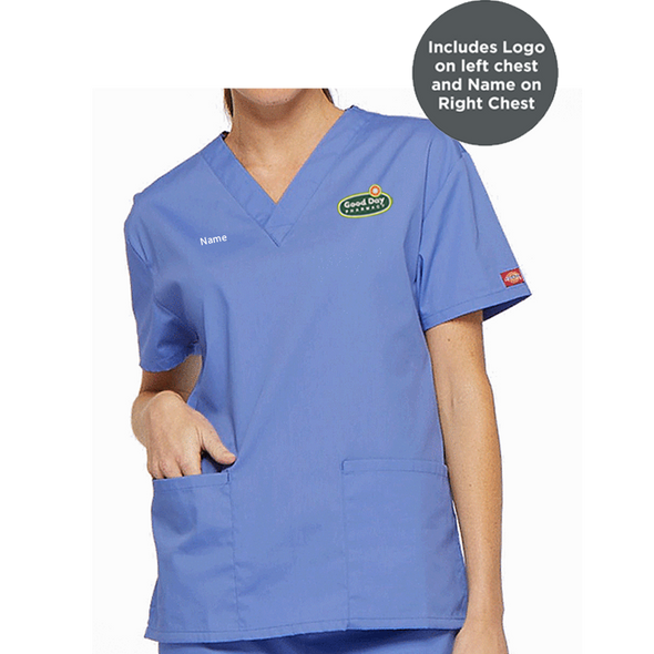 Dickies Medical Women's Missy V-Neck Top
