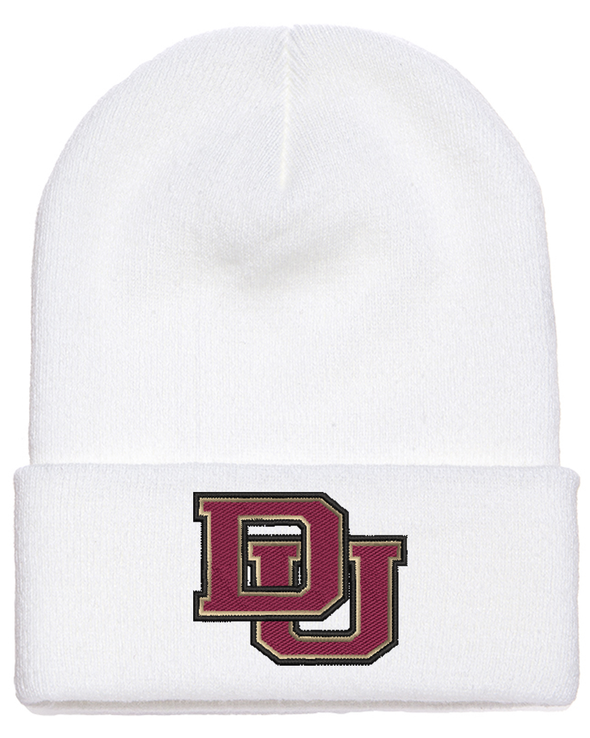 Cuffed DU Knit Beanie 3 Color Logo