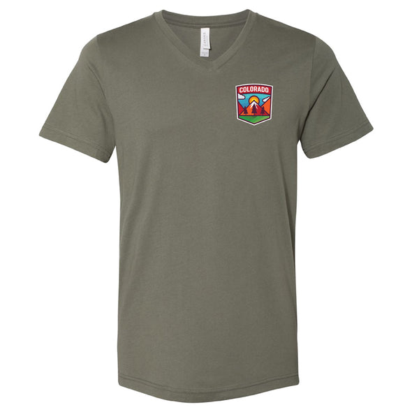Unisex Jersey V-Neck Tee - Colorado Shield