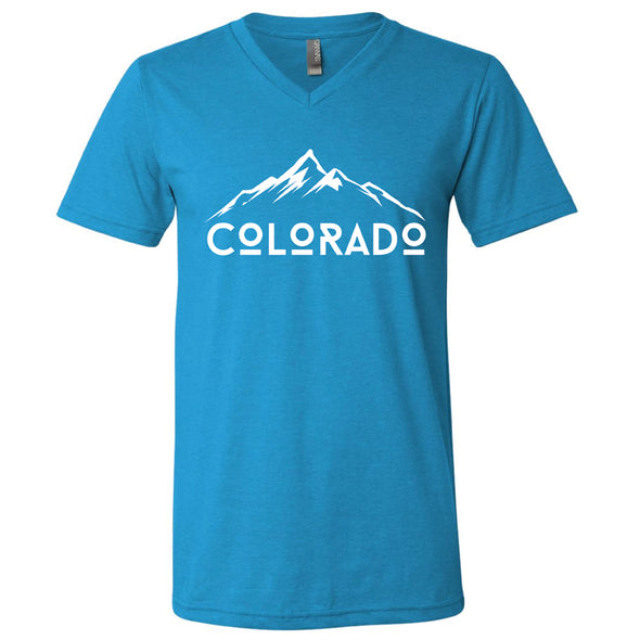 Unisex Jersey V-Neck Tee - Colorado Mountains