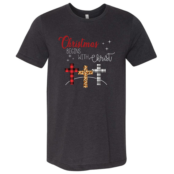 Christmas Begins With - Unisex Triblend Tee