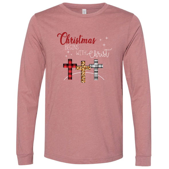 Christmas Begins With - Unisex Jersey Long Sleeve Tee