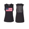Heart on Flag - Women's Festival Muscle Tank