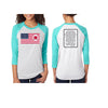 Heart on Flag - Unisex Tri-blend Crew