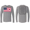 Heart on Flag - Tri-blend Long Sleeve Crew