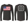 God Faith Love - Tri-blend Long Sleeve Crew