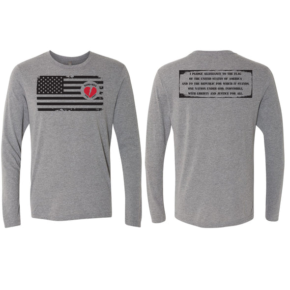 POW-MIA - Tri-blend Long Sleeve Crew
