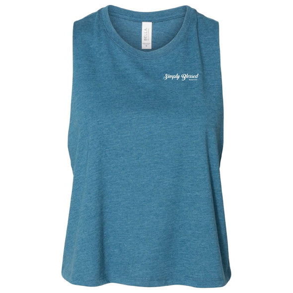 Simply Blessed - Ladies' Racerback Cropped Tank