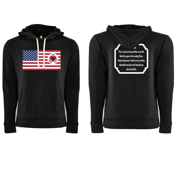 God Faith Love - Unisex Fleece Pullover Hoody