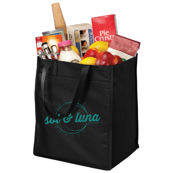 Extra-Wide Polypropylene Grocery Tote - Sol & Luna