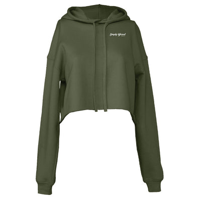 Simply Blessed - Ladies' Cropped Fleece Hoodie
