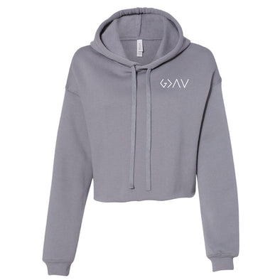 God is Greater Than - Ladies' Cropped Fleece Hoodie
