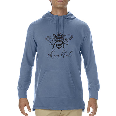 Bee Thankful - Adult French Terry Scuba Hood