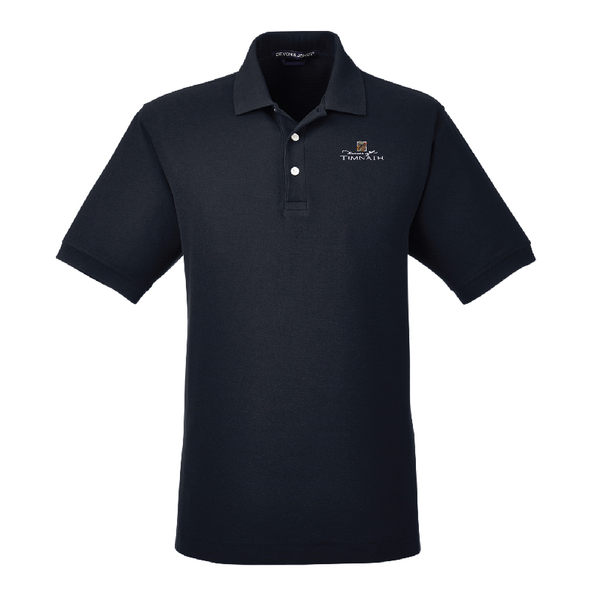 Devon & Jones Men's Pima Piqué Short-Sleeve Polo