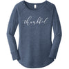 Thankful - Women's Perfect Tri ® Long Sleeve Tunic Tee