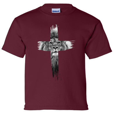 Lion Cross - Youth Heavy Cotton T-Shirt