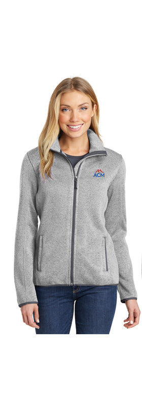 Ladies' Port Authority® Sweater Fleece Jacket