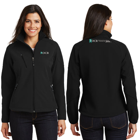 Port Authority® Ladies Textured Soft Shell Jacket